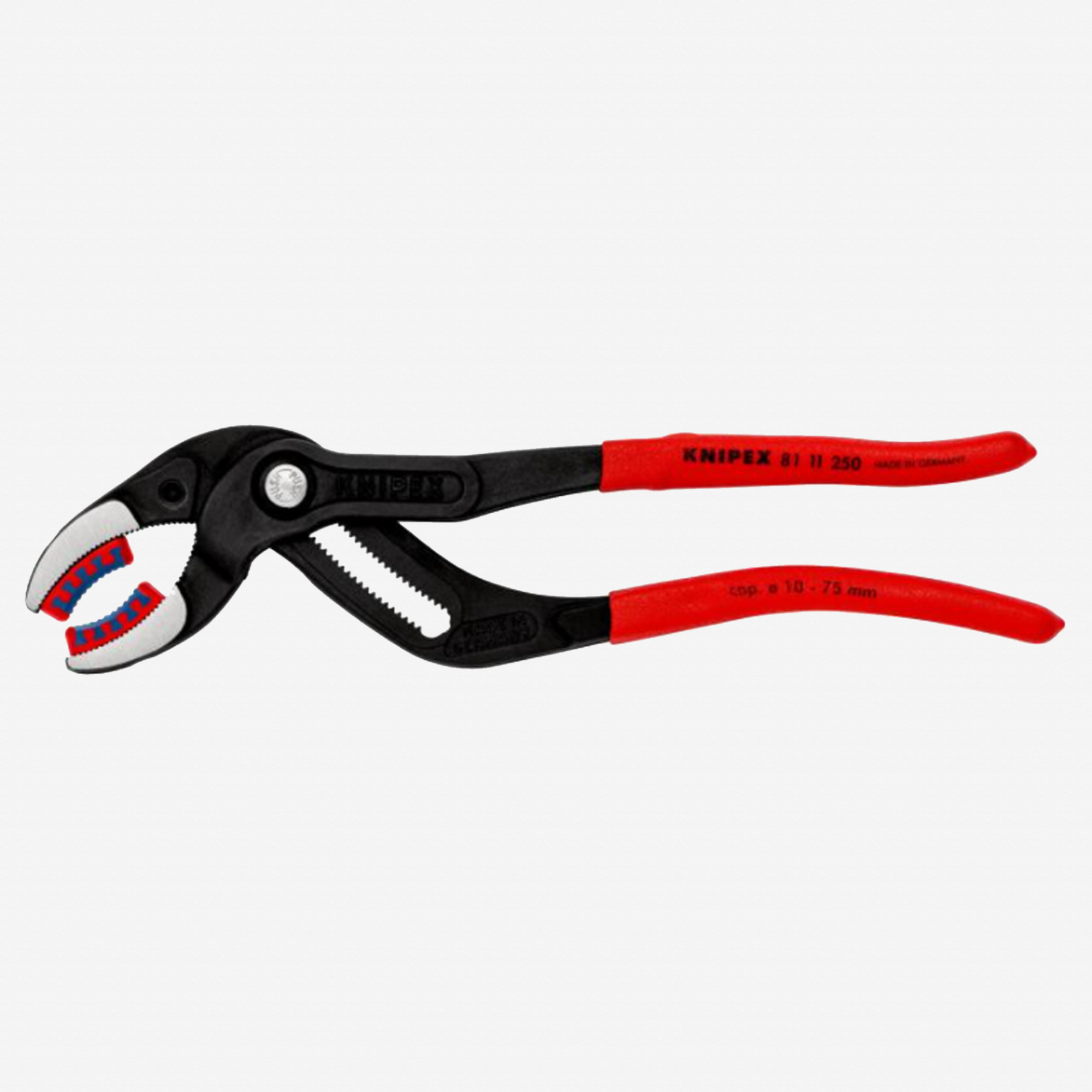 "Knipex 81-11-250 10"" Pipe Gripping Pliers w/ Plastic Jaws for tube fittings and connectors - KC Tool"