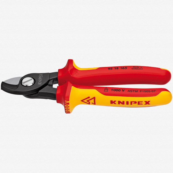 "Knipex 95-18-165 6.5"" Cable Shears - Insulated - KC Tool"