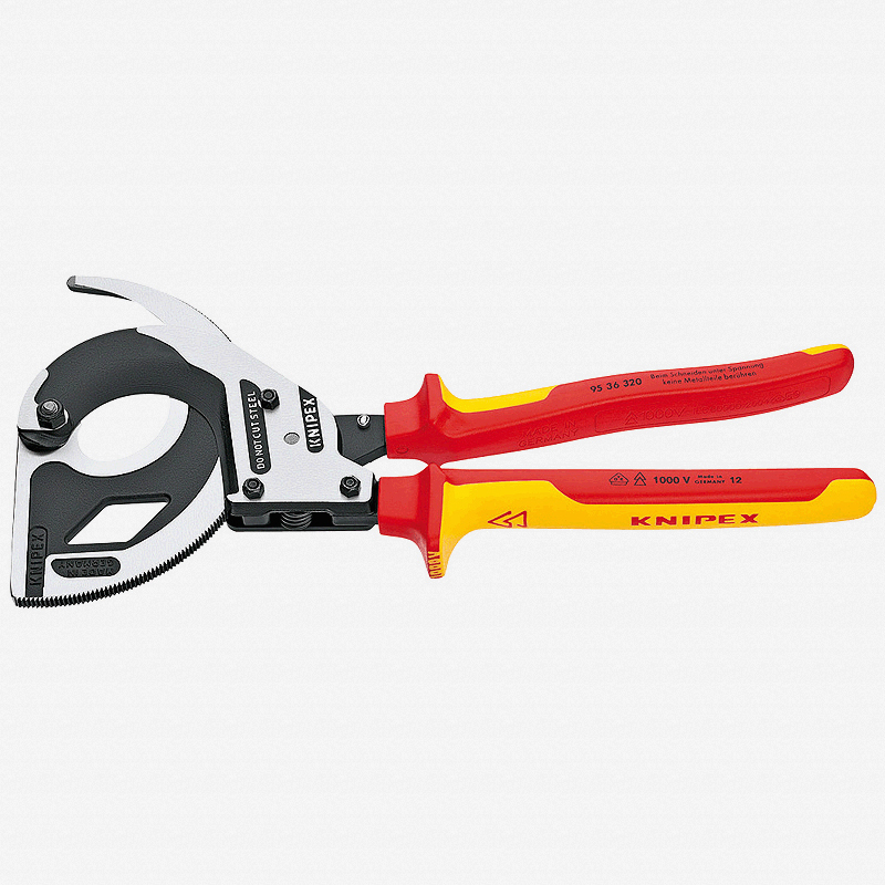 Knipex 95-36-320 Cable Cutters (ratchet action) - Insulated - KC Tool