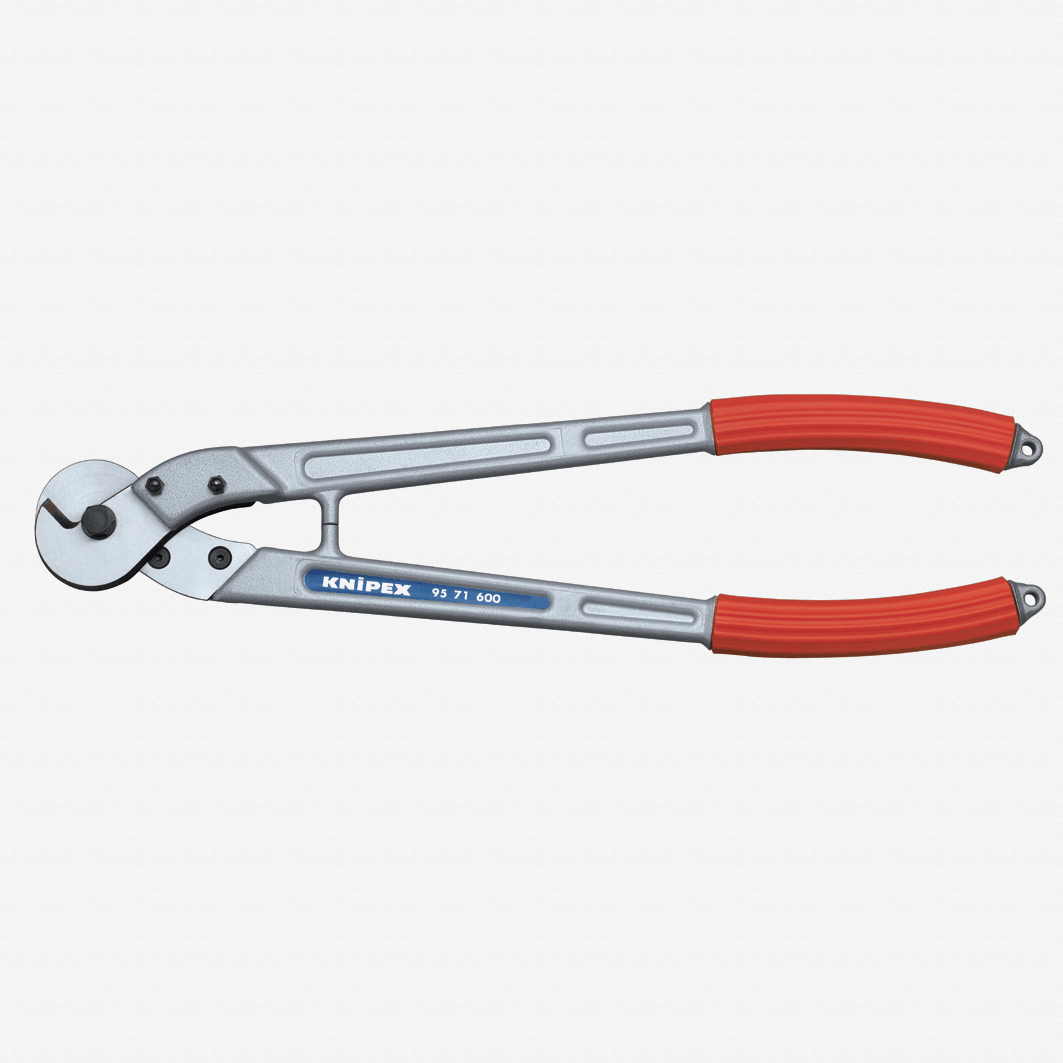 "Knipex 95-71-445 17.5"" Wire Rope and ACSR-Cable Cutters - Plastic Grip - KC Tool"