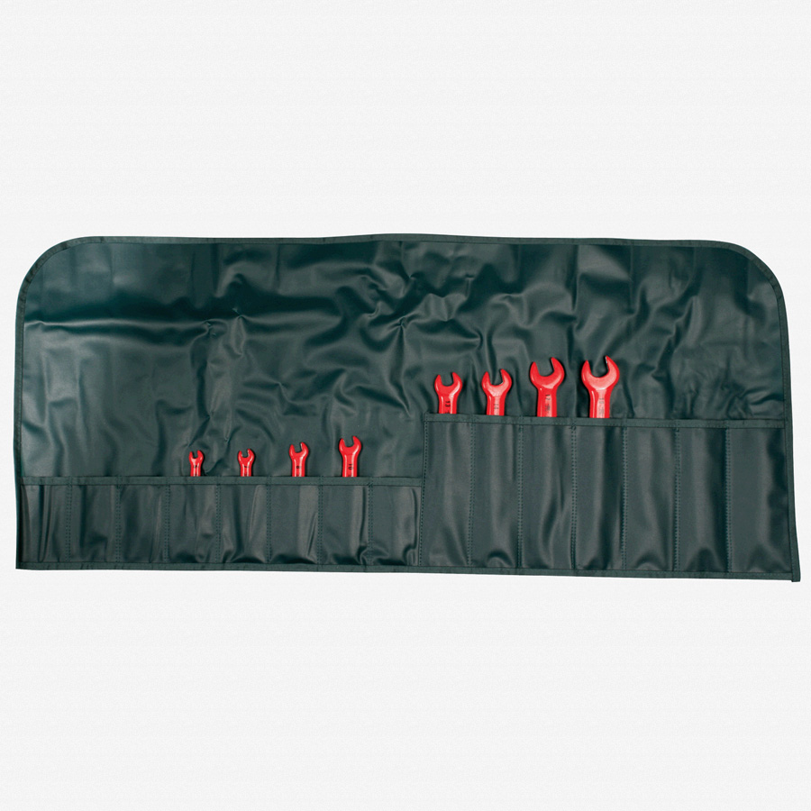 Wiha 20093 8 Piece Insulated Open End Wrench Metric Pouch Set - KC Tool