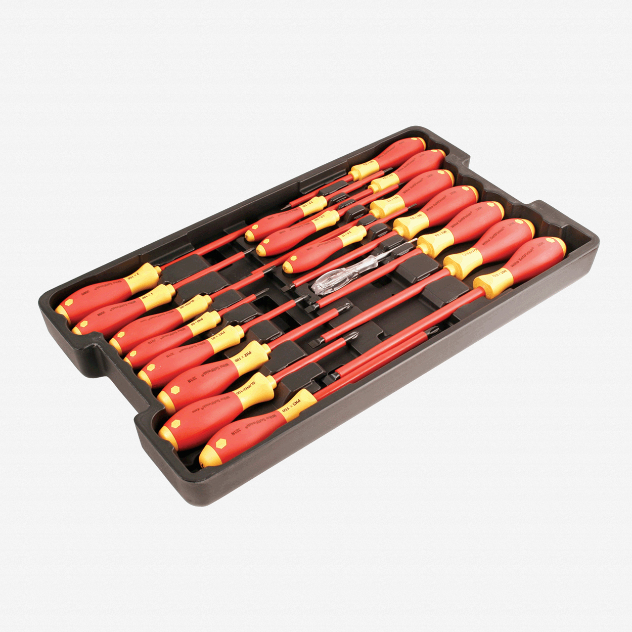 Wiha 32095 19 Piece Insulated Slotted/Phillips/Square/Terminal Screwdriver Box Set - KC Tool