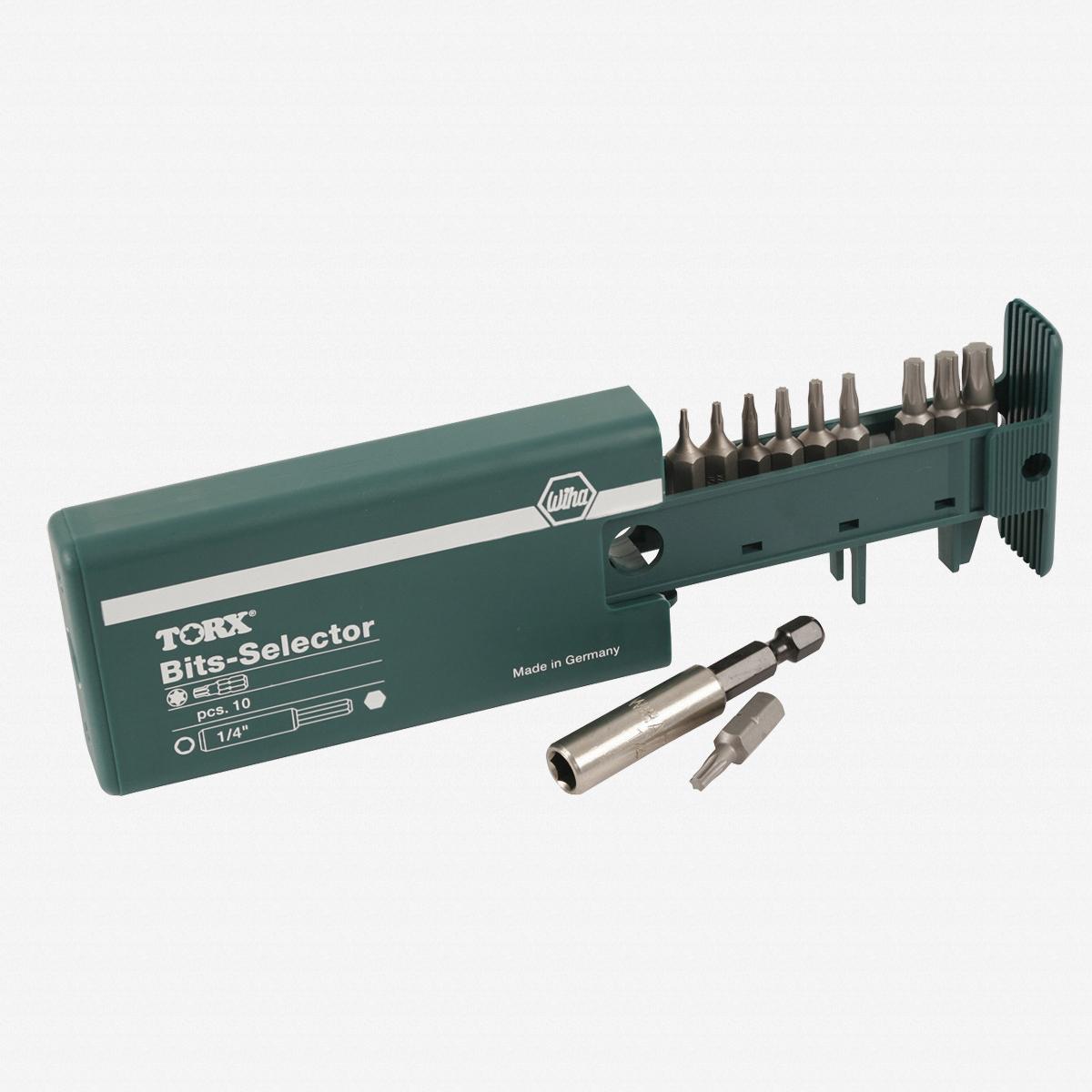 Wiha 79245 10 Piece Torx Bit Selector Set (T7-T40) - KC Tool