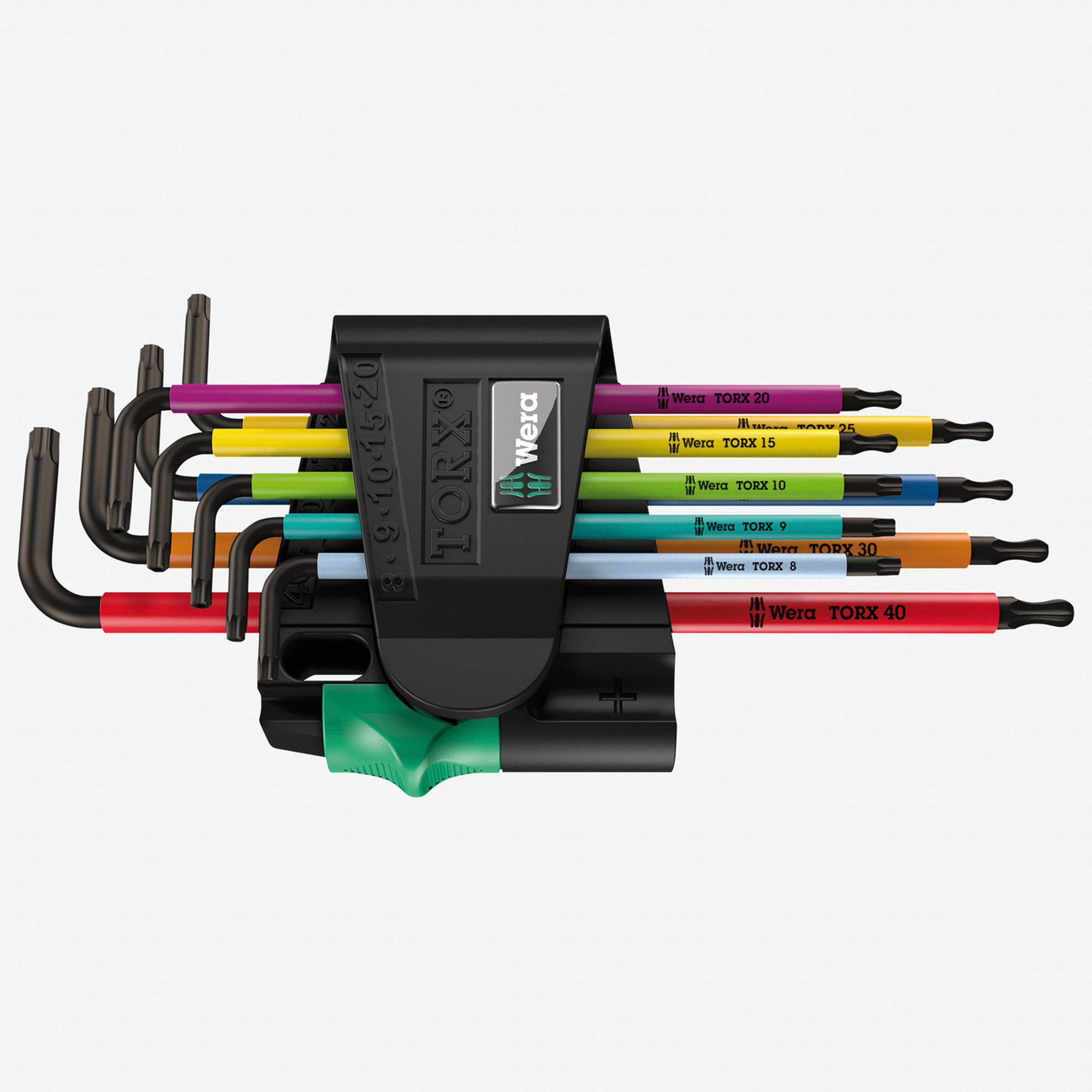 Wera 073599 Multicolor Ball End Torx + Security Torx L-key Clip Set (Retail Box) - KC Tool