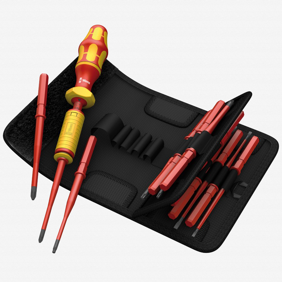 Wera 059291 KK VDE 15 Piece 1.2 - 3.0 Nm Adjustable Insulated Torque Screwdriver Set - KC Tool