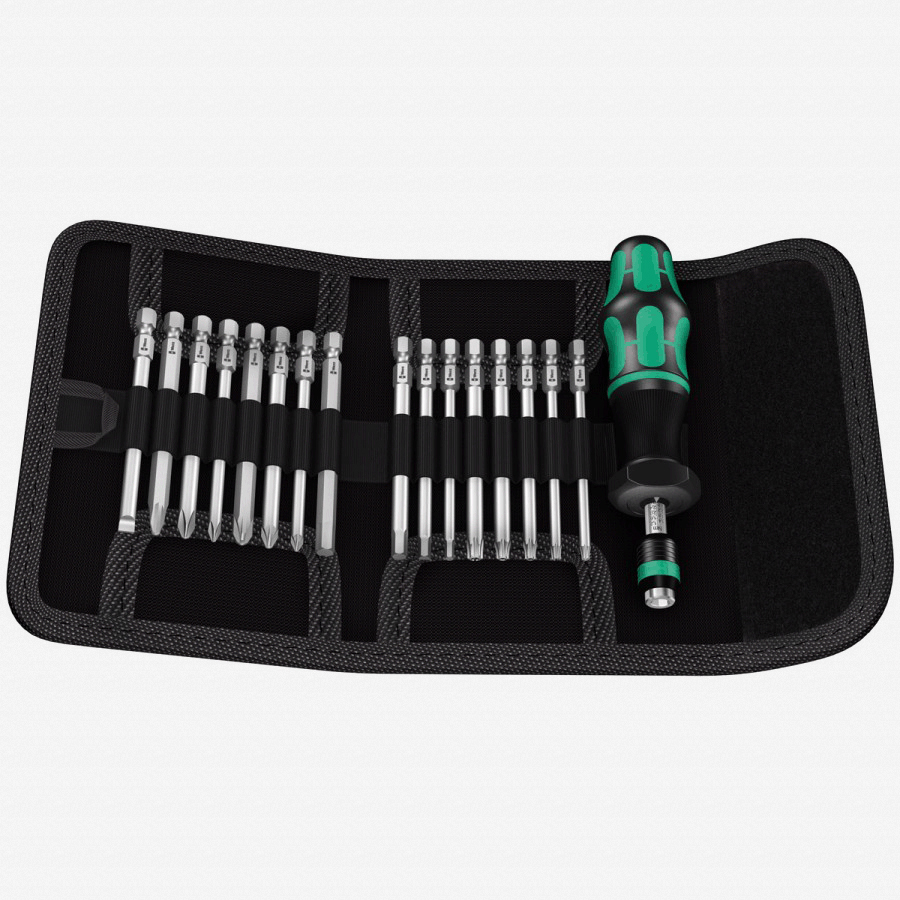 Wera 059293 Kraftform Kompakt 60 Torque 1.2 - 3.0 Nm 17 Piece Torque Screwdriver Set - KC Tool