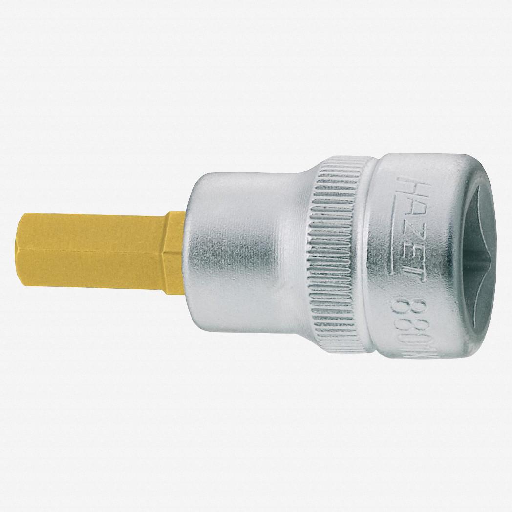 "Hazet 8501-4 4mm Hex Titanium-Nitride 1//4/"" Socket"