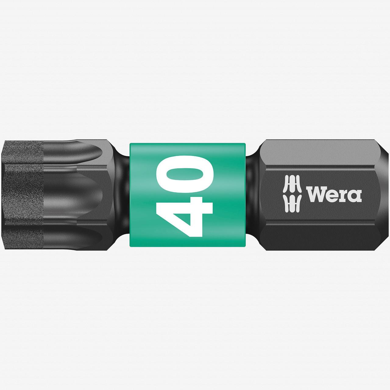 """WERA  Impact Bit torx t40 x 25mm  1//4/"""" HEX"""