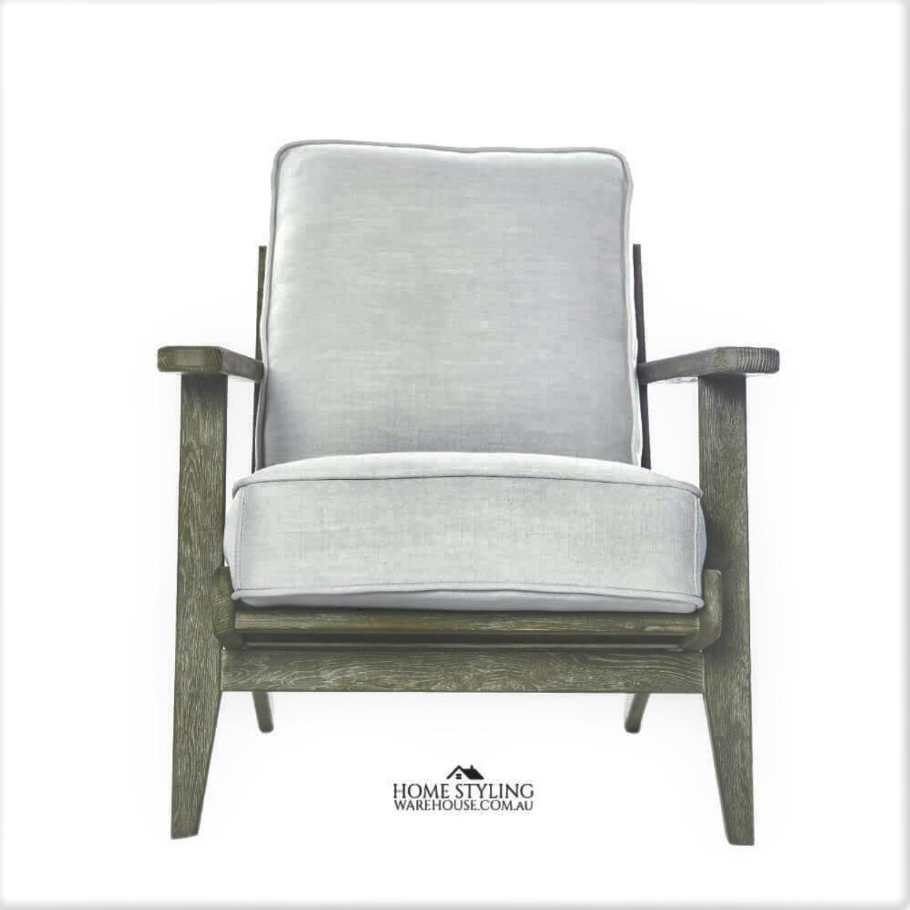 Plank arm chair mid century modern danish oak replica wegner fler replica coastal whitewash