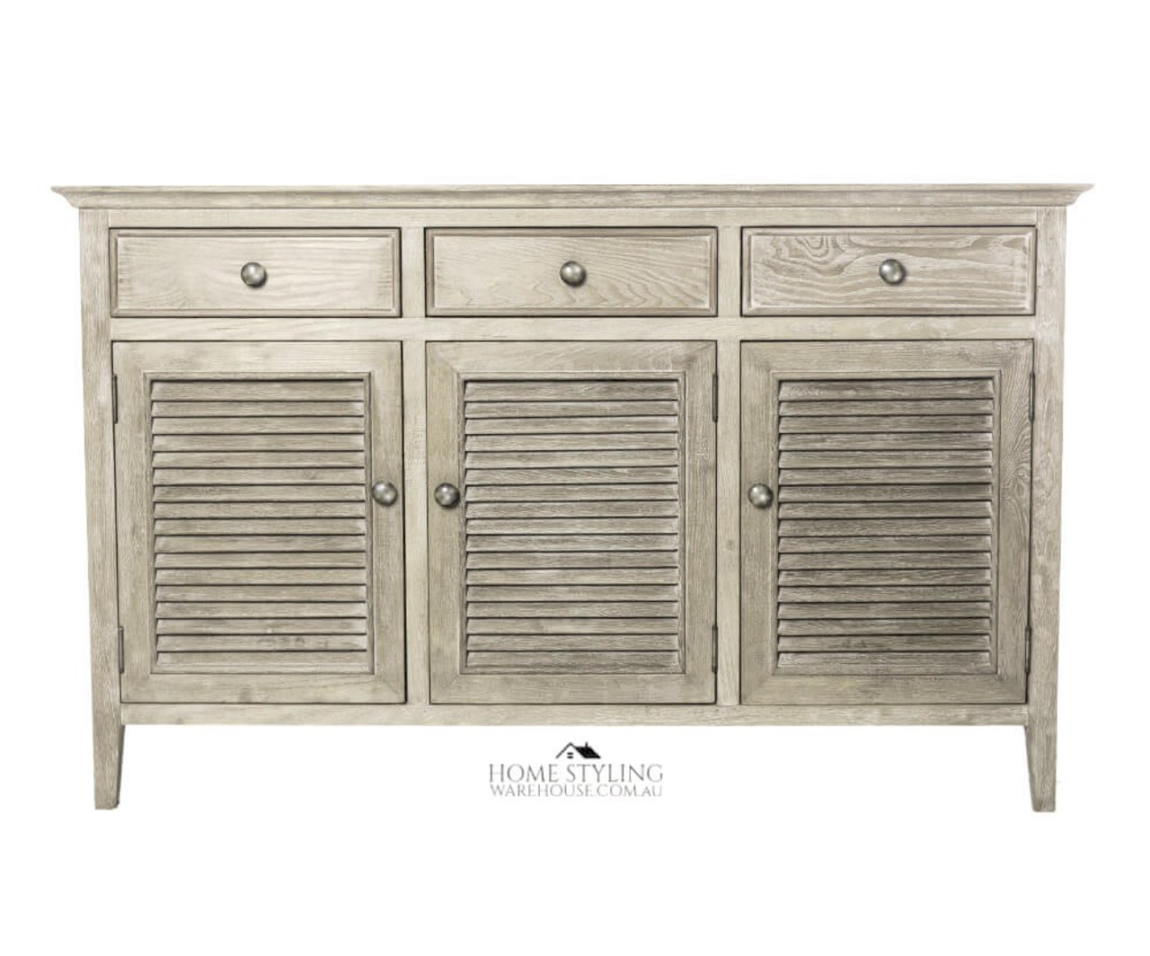 Buffet Table.Hamptons Buffet Table Sideboard Console Louvre 3 Door Drawers Wood Cabinet Cupboard Storage