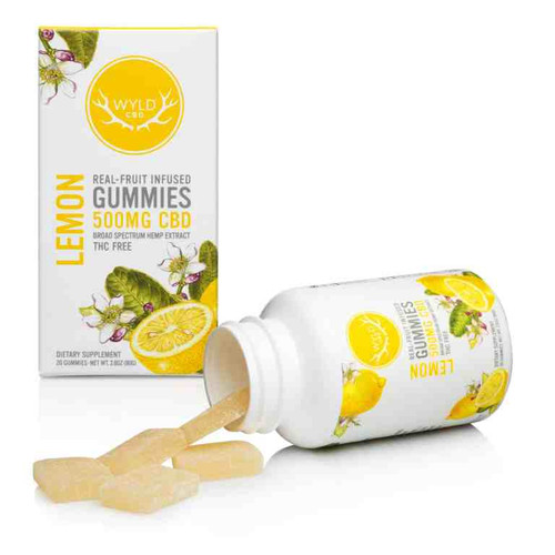 Wyld 500 Gummies Lemon