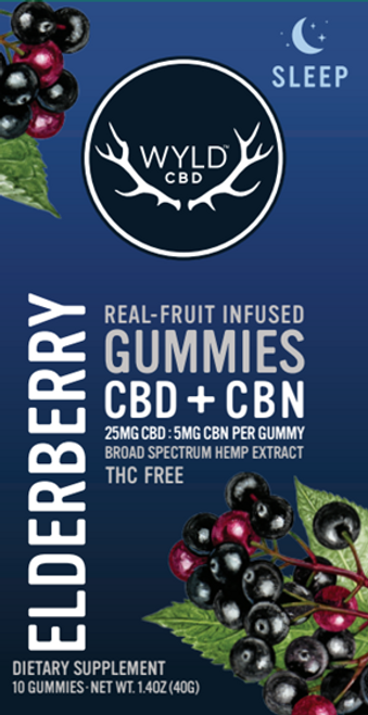 Wyld Gummies Elderberry CBD+ CBN 250mg