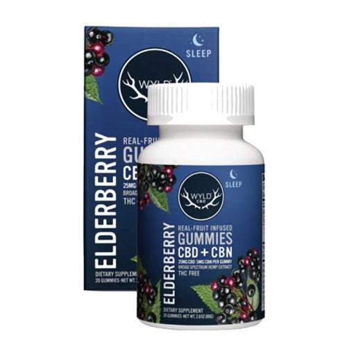 250mg Elderberry CBD+ CBN Gummies
