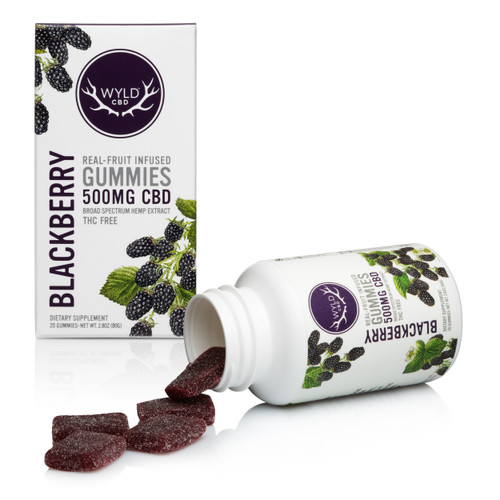 Wyld 500 Gummies Blackberry
