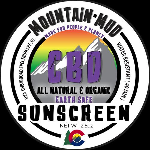 Mountain Mud  CBD Sunscreen