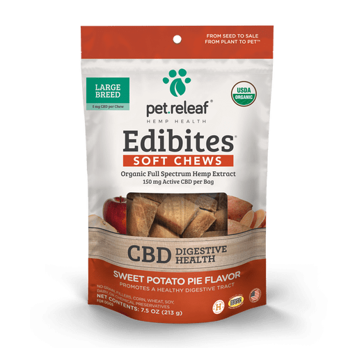 Sweet Potato Digestive Chews for Large Dogs