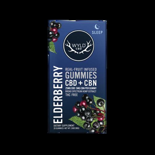 500mg Elderberry CBD+CBN Gummies