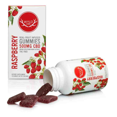 Wyld 500mg Gummies Raspberry