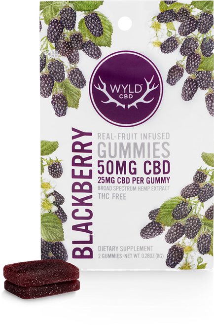 Wyld Pouch Blackberry 50mg