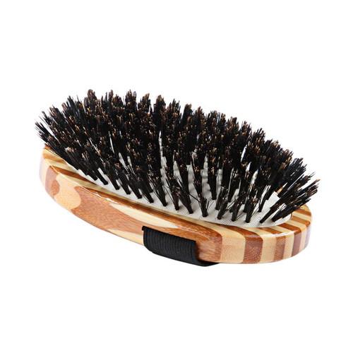 Handheld boar bristle brush
