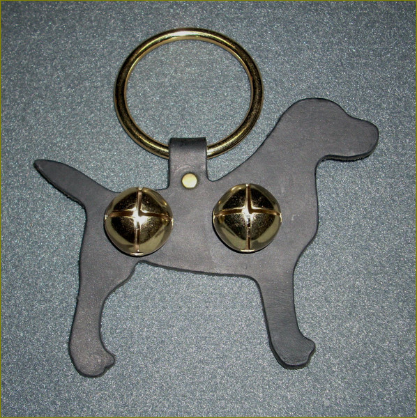 Brown Leather Hanging Leather Ornament (dog)