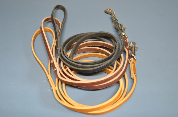 Warner Cumberland Leather Snap Dog Leash