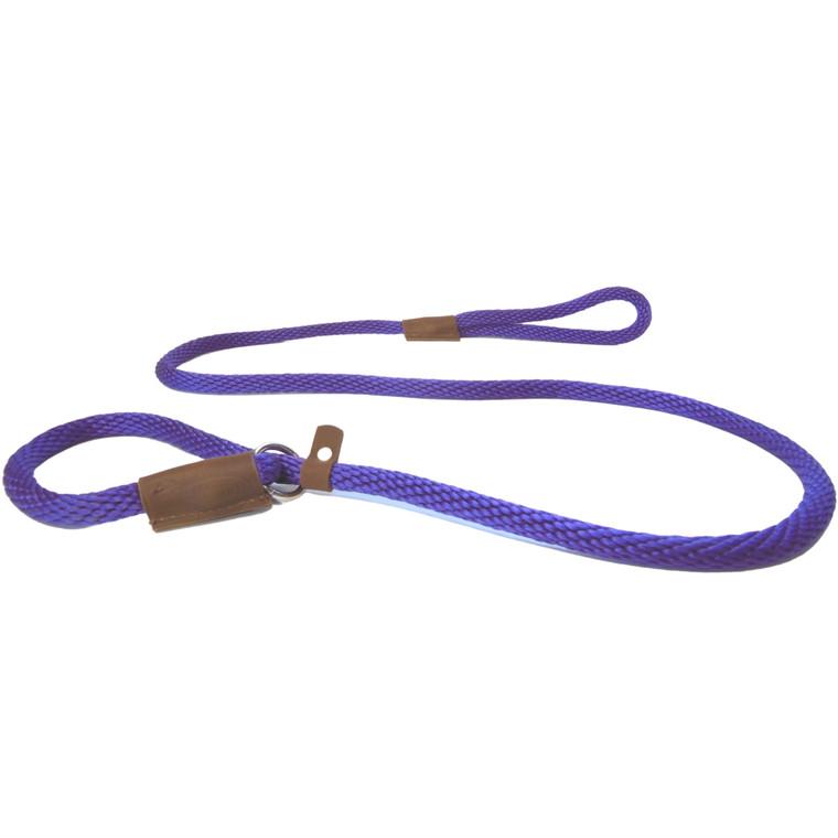 purple dog leash british slip lead