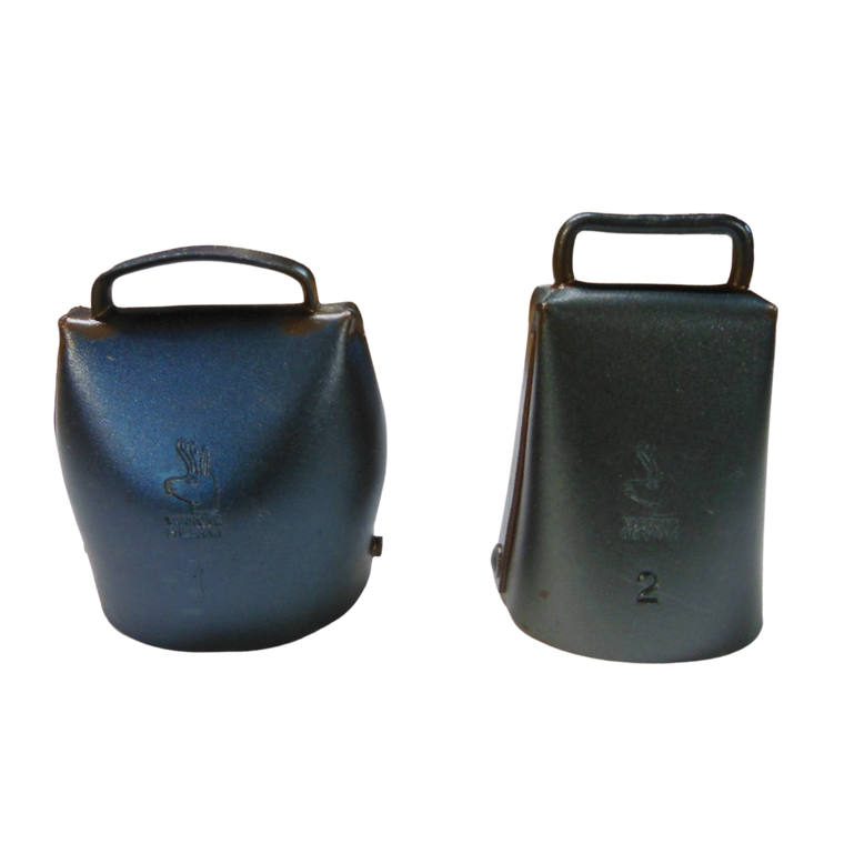 thumbnail image of #1 (oval) and #2 (rectangular) bells