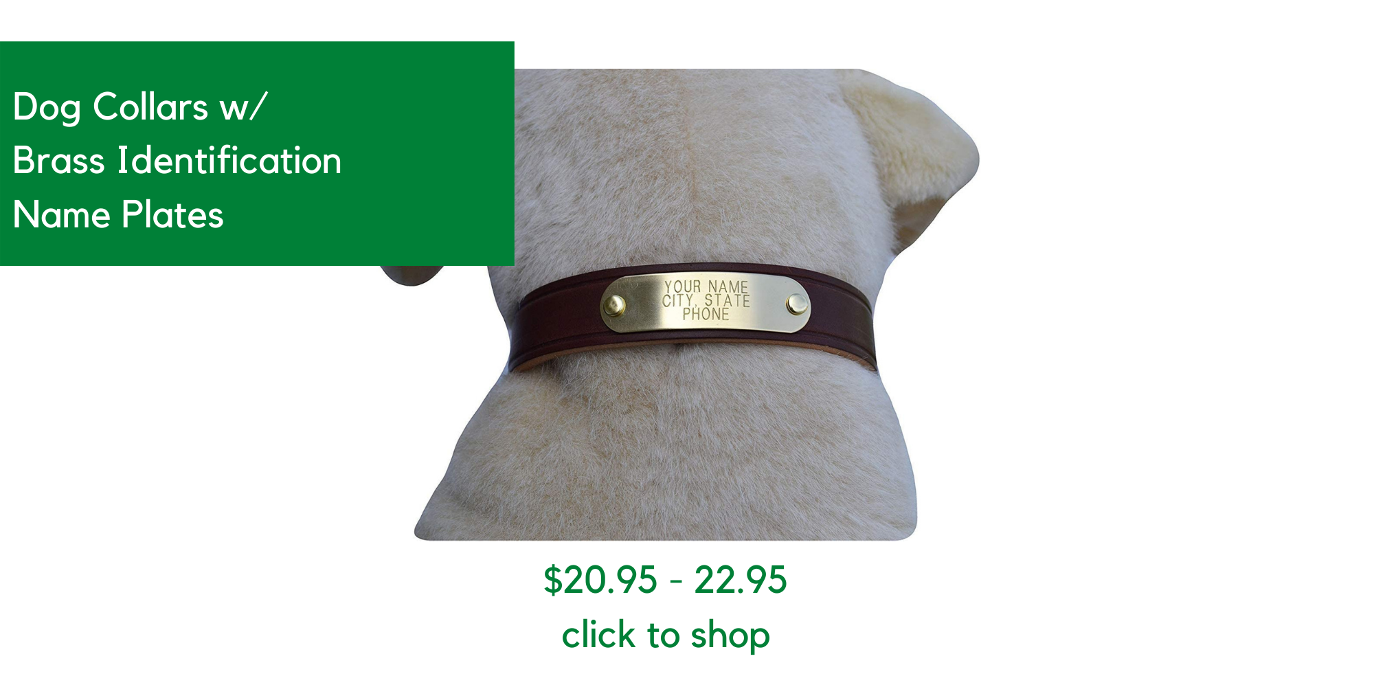 Click to Shop Custom Name Plate Collars