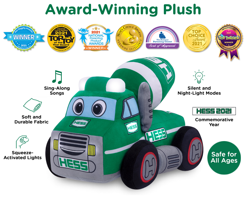 My Plush Hess Truck 2021 Cement Mixer Also Available!