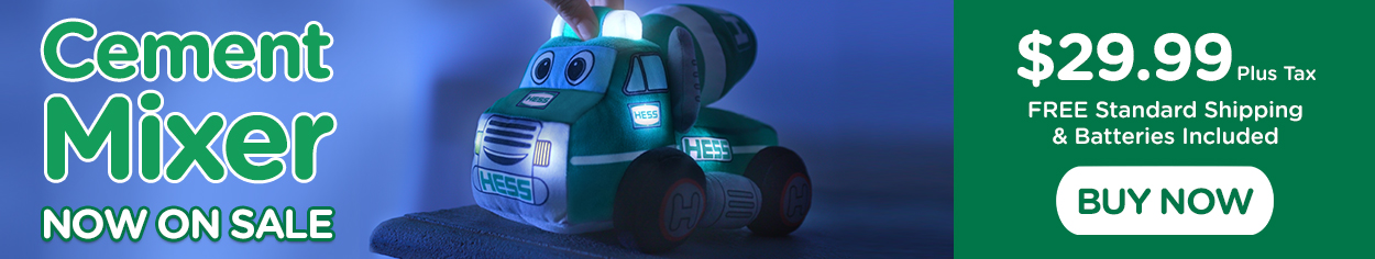 My Plush Hess Truck: 2021 Cement Mixer On Sale Now