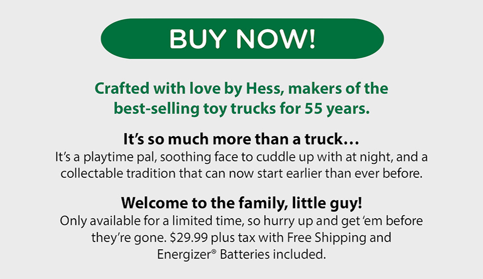My First Hess Truck - Click To Buy Now