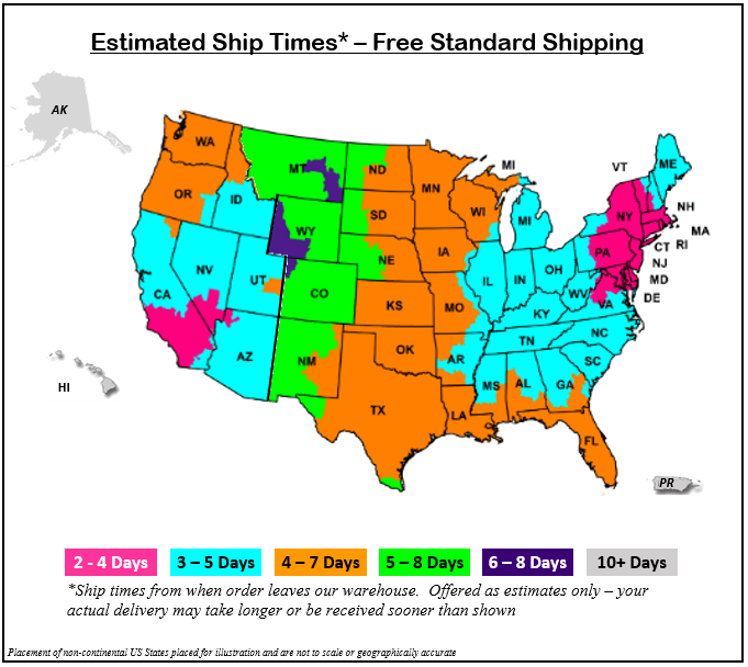 FedEx Ground Delivery Times by Zone
