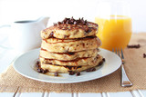 Chocolate Chip Pancakes with Choffy Syrup