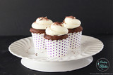 Double Chocolate Choffy Cupcakes with Cream Cheese Frosting