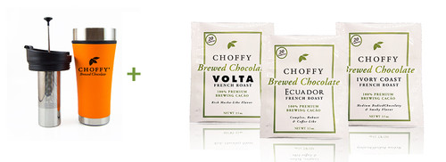 Choffy French Roast Starter Kit Desert Orange