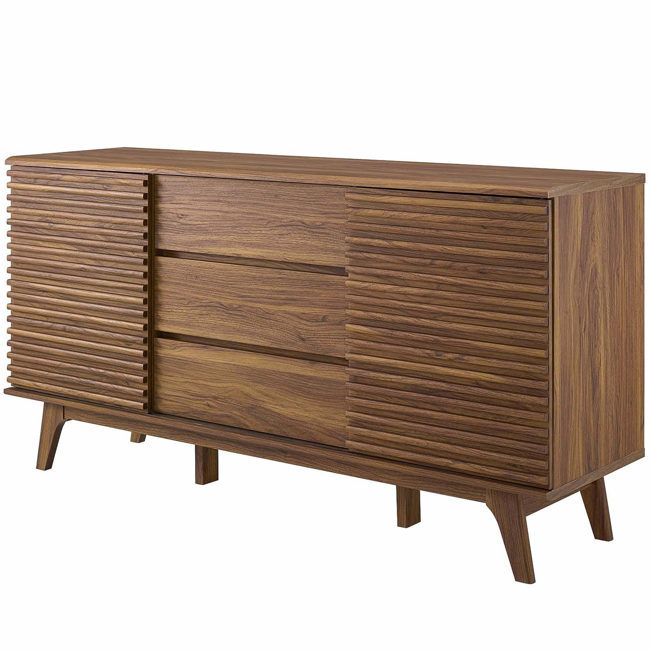 Render 63 Sideboard Buffet Table Or Tv Stand Wood Natural Walnut Brown 17993 House Bound