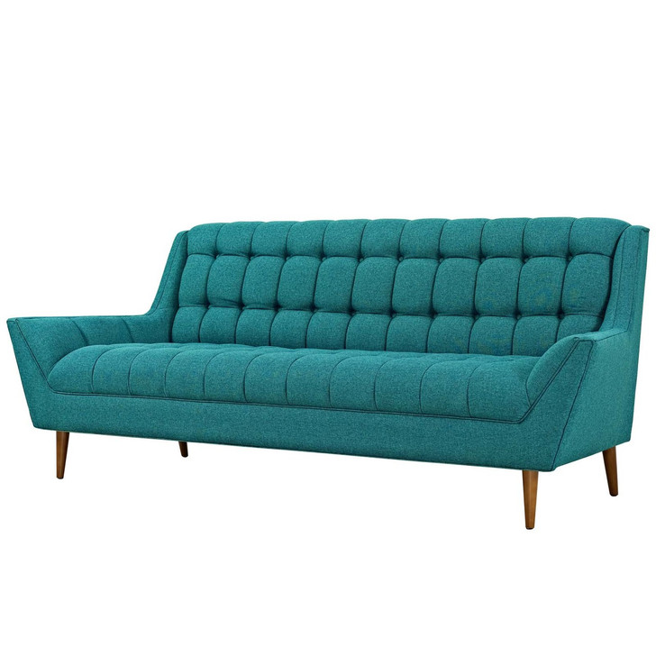 Response Upholstered Fabric Sofa, Fabric, Aqua Blue 13305