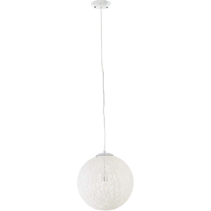 """Spool 16"""" Pendant Light Chandelier, Rope, White 13847"""