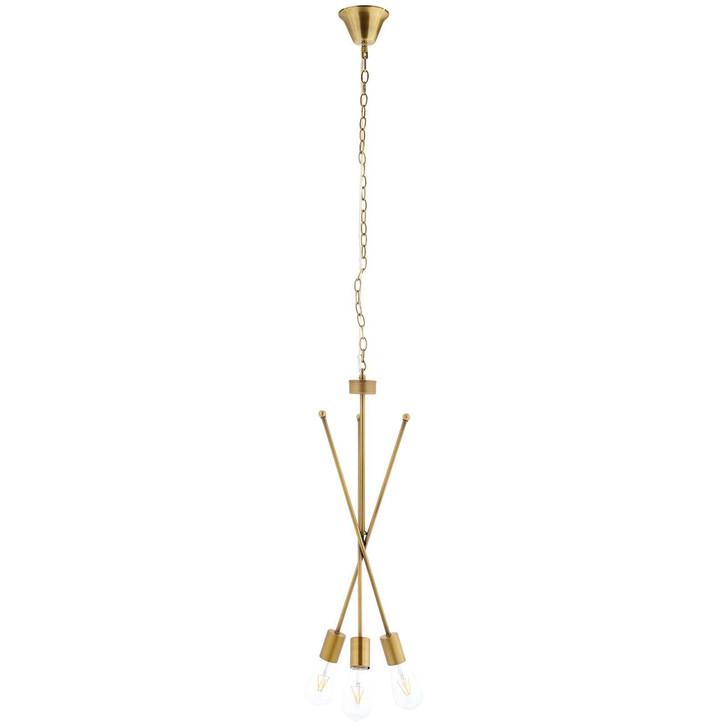 Strive Brass Pendant Chandelier, Brass Metal Steel, Gold 14148