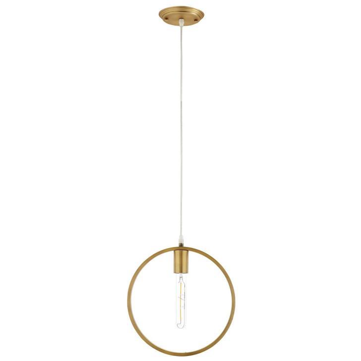 Orbit Brass Ceiling Pendant Light, Brass Metal Steel Steel, Gold 14151