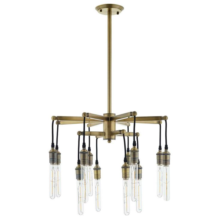 Resolve Antique Brass Ceiling Light Pendant Chandelier, Metal Steel, Gold 15238