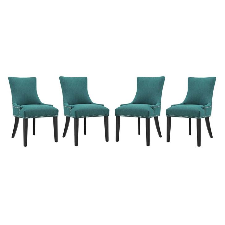 Marquis Dining Chair Fabric Set of 4, Fabric, Aqua Blue 15832