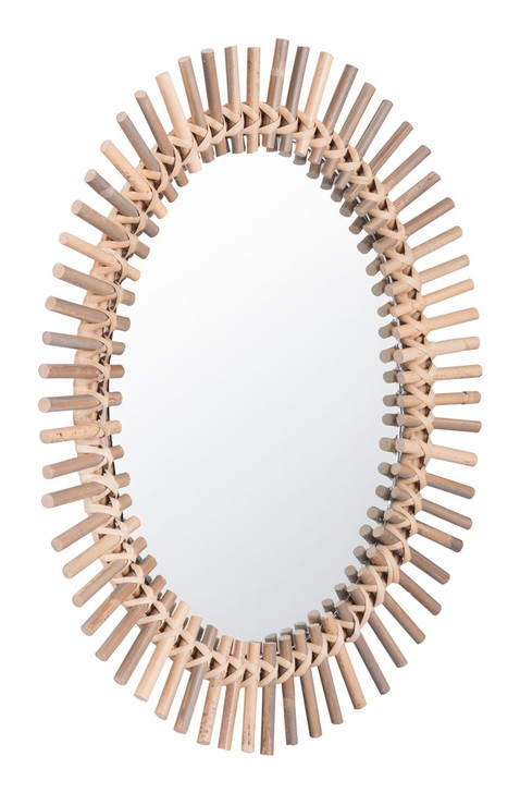 Sole Oval Mirror Brown, 17238