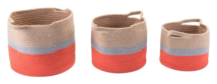 Ilesa Set Of 3 Baskets With Handles, 17241