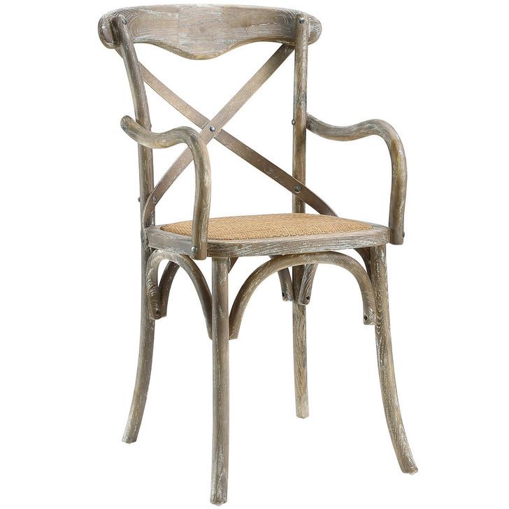 Gear Dining Armchair, Grey Wood