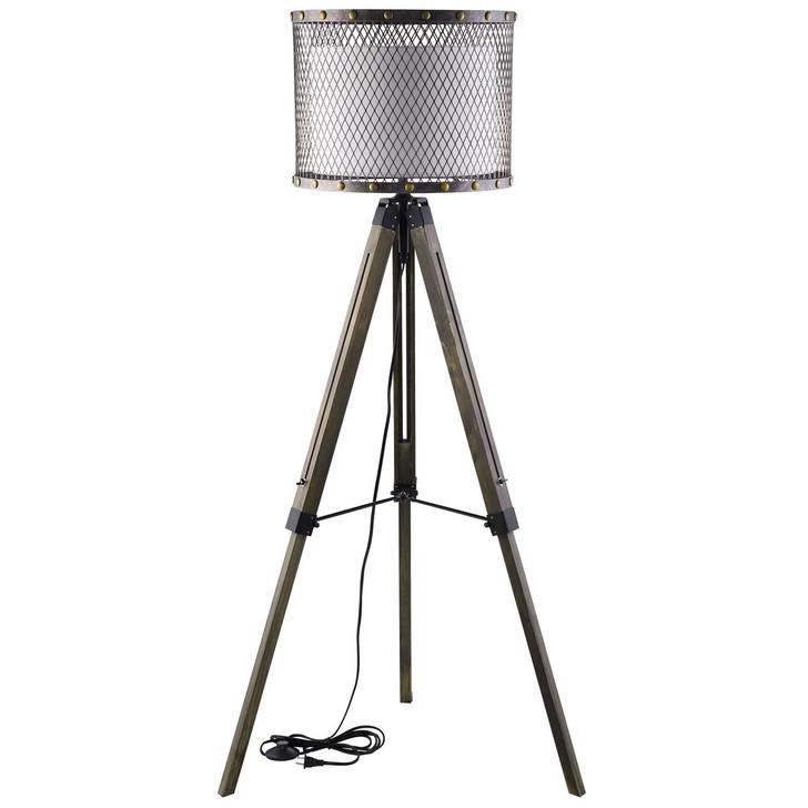 Fortune Floor Lamp, Silver Steel