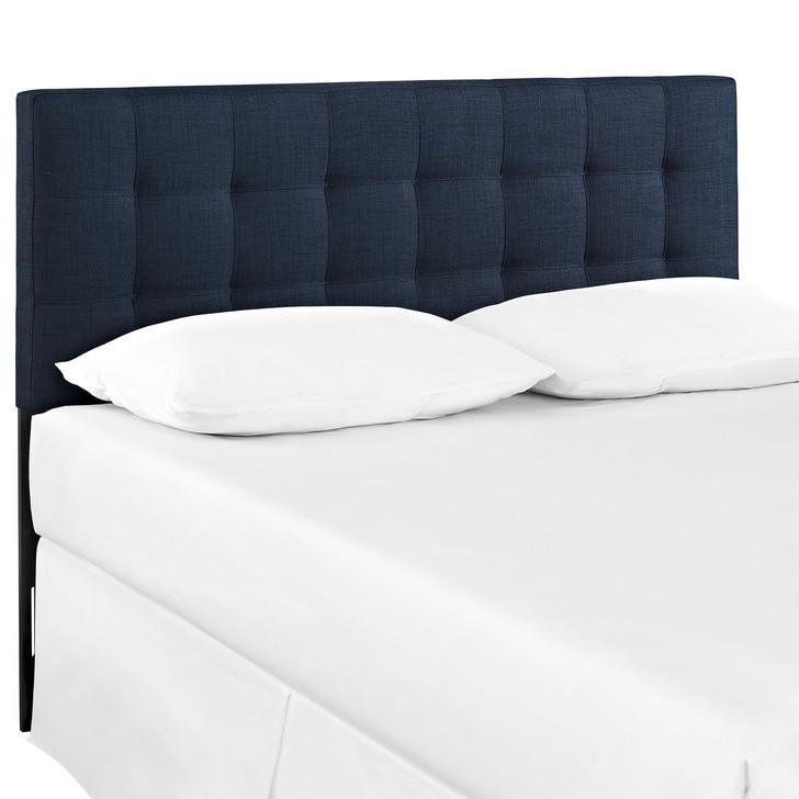 Lily Twin Size Fabric Headboard, Blue, Fabric