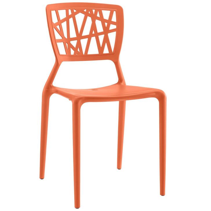 Astro Dining Side Chair, Orange, Plastic 9656