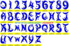 MOONSTAR Machine Embroidery Designs Fonts Instant Download